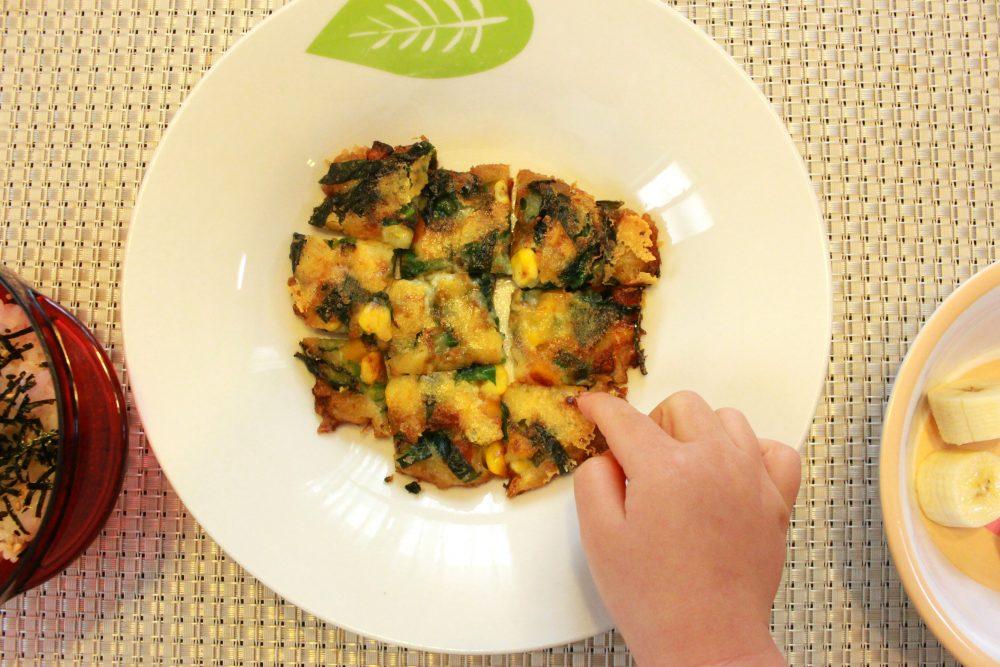 幼児食ランチ③お野菜入りチヂミ