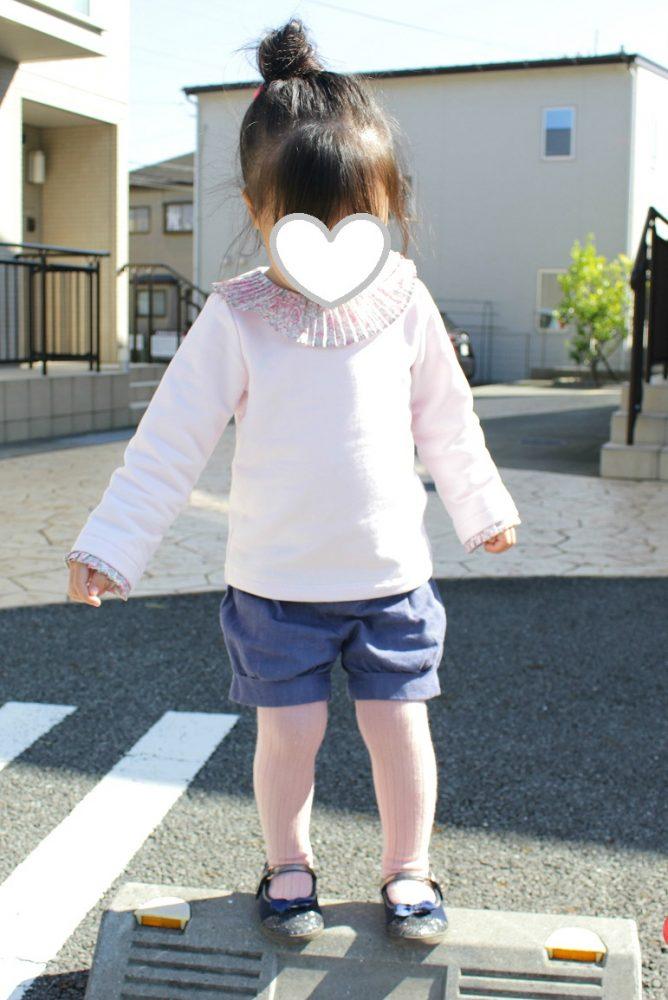2歳女の子秋冬ショートパンツコーデjacadiジャカディリバティ