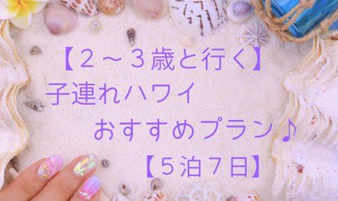 【2~3歳と行く】子連れハワイおすすめプラン♪【5泊7日】